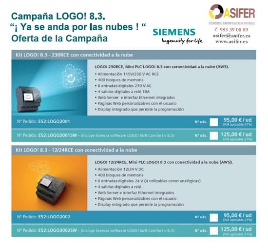 Campaña LOGO! 8.3. de Siemens